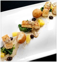 Fish and pommes notisettes