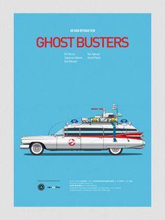 Dibujos de autos de películas * http://9musas.net/dibujos-de-autos-de-peliculas/ #poster #auto #CazaFantasmas