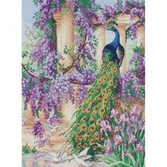 Peacock Garden Kit - X Squared Cross Stitch