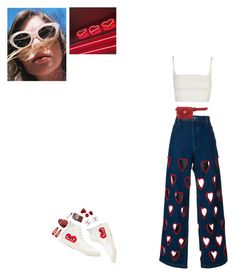 """""""Untitled #125"""" by b4by-blue ❤ liked on Polyvore featuring Ashish, Play Comme des Garçons, Chanel, Forever 21 and Marc Jacobs"""