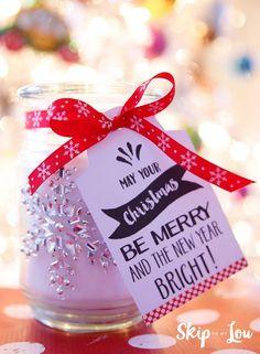 Embellished Candle Gift Idea