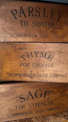 Herbal remedies... Beautiful Boxes make for a nice farmhouse feel.