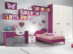 Small minimalist home interior design - An important factor in the comfort of a home is the interior design of . Modern Kids Bedroom, Pink Bedroom For Girls, Kids Bedroom Sets, Kids Bedroom Furniture, Bedroom Decor, Bedroom Colors, 6 Year Old Girl Bedroom, Childrens Bedroom, Trendy Bedroom