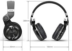 Amazon.com: Mactrem Bluedio T2 Turbo Black Wireless Bluetooth 4.1 Stereo Headphones Noise Headset with Mic High Bass Quality: Cell Phones & Accessories