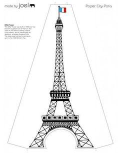 Paper City Paris Eiffel Tower Template
