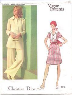 70s Vogue Paris Original Pattern 2717 Christian by CloesCloset, $17.00