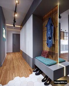 Дизайн Прихожей в Квартире 2019: 108 фото (реальные) и 5 Идей Hallway Designs, Foyer Design, House Design, Apartment Entrance, House Entrance, Hallway Closet, Hall Furniture, Entry Hall, Scandinavian Interior