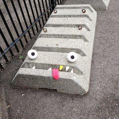 O verso do Inverso » Algumas artes de rua monstruosas