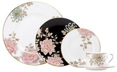 Marchesa Painted Camellia 5 Piece Placesetting multicoloured