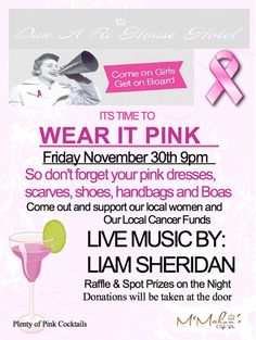 Wear it Pink night November 2012 Local Women, Coming Out, Pink Dress, 30th, Don't Forget, Night Out, November, Cancer, How To Get