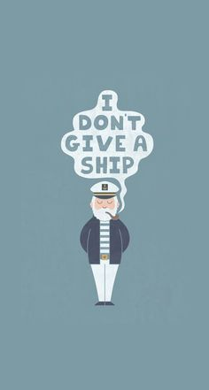 Indifferent Captain iPhone & iPod Skin by Teo Zirinis Funny Puns, Funny Cartoons, Hipster Wallpaper, Iphone Wallpaper, Illustrations, Illustration Art, Funny Kids Shirts, Funny Wallpapers, Iphone Skins