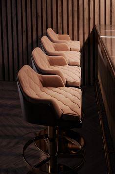 Bar interior design can give you the finest lighting inspiration. #modernchandeliersblog #lifestylebyluxxu #luxxumoderndesignliving #luxurydecoration #luxury #bar #designideas #bardesign #lighting #interiordesign Bar Interior Design, Interior Decorating, Luxury Decor, Luxury Bar, Chair Design, Furniture Design, Bar Chairs, Stools, Modern Chandelier