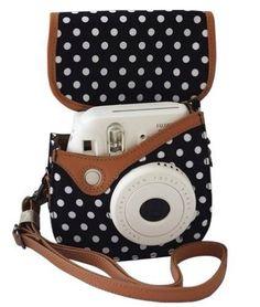 Colorful Dots Spot Camera PU Leather Case Bag For Fujifilm Instax mini 8 + Free Shoulder Strap - Black : Fuji Camera Case : Camera & Photo This seems magnificent? So what do you presume?