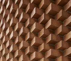 Decorative brick entrance added to an art gallery in New York.