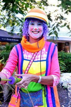 neon clown
