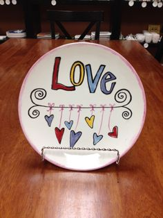 Dangling hearts Made at Paint a Piece Commack