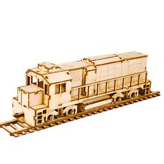 Wooden Model Transportaion Kits Junior Series- Scale models Diesel Locomotive