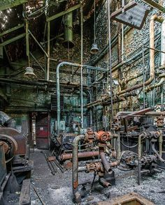 Abandoned factory and Pipes