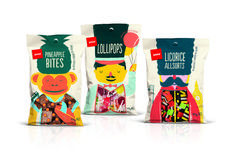 The Dieline 2015: 1st Place Confectionary, Snacks, Desserts- Pams Confectionery — The Dieline - Package Design Resource
