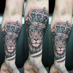 50 Lion With Crown Tattoo Designs For Men – Royal Ink Ideas
