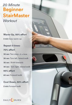 Work Your Butt: The 20-Minute StairMaster Workout