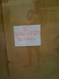 No Unauthorized Persons