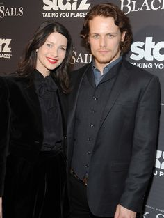 With Outlander co-star Sam Heughan January 8, 2014 Source :  zimbio.com