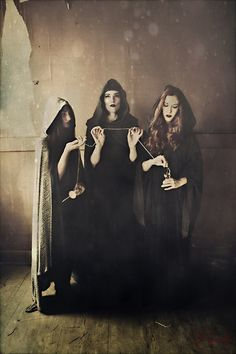 Magick Wicca Witch Witchcraft: (Ok. but this looks more like the Triple Goddess of Fate. Norse Mythology, Greek Mythology, Wiccan, Witchcraft, La Danse Macabre, Art Magique, Season Of The Witch, Gods And Goddesses, Deities