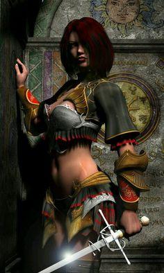 misterious warrior woman