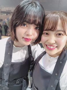 Techi with Matsurin! 😍😍😍 I dont ever think that Matsurin will be the first member who post a selfie with Yurina 😭😭