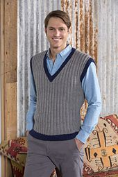 Ravelry: Man's Seeded Rib Vest pattern by Jodi Lewanda