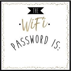 Oliver Gal The Wifi Password (Framed Whiteboard)