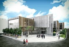 Izmir Konak Municipality City Hall | Super Eight City Hall Architecture, Modern Architecture, Architecture Visualization, Building Design, Street View, Collage, 3d, Landscape, Inspiration