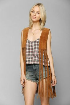 Staring At Stars Suede Fringe Vest #urbanoutfitters