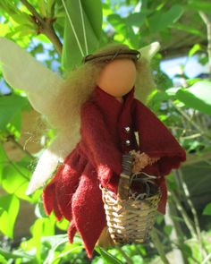 Woodland Fairy Ornament Clothespin by ModerationCorner on Etsy
