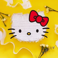 Make any celebration super sweet with this fun DIY HelloKitty Piñata by . Visit the link in bio for the step-by-step instructions on Sweet Happy News! Piñata Hello Kitty, Hello Kitty Pinata, Hello Kitty Crafts, Hello Kitty Birthday, Mickey Mouse Parties, Mickey Mouse Clubhouse, Mickey Mouse Birthday, Toy Story Party, Toy Story Birthday