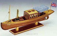 Constructo Louise Steam Launch 1:26 Scale Wooden Model Kit - available from Hobbies, the UK's favourite online hobby store!