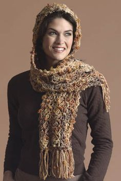 Easy+Crochet+Hooded+Scarf   Free, Easy Crochet Pattern: Hooded Scarf – Yahoo! Voices – voices