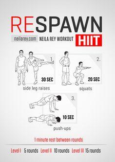 Respawn HIIT Workout #exerciseandfitness