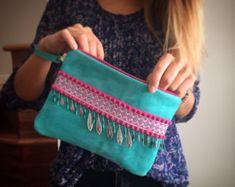 Handbag clutch boho clutch ethnic hippy chic by PriskaTienda