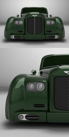 ♂ Green car Bentley S3 Lowrider