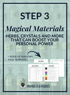 Introduction to Magick: Magical Materials — Mumbles & Things Blog — Click through to read the post and download your worksheets and guides. #witchesgonnawitch #witchcity #witchstyle #witchyways #paganwitch #witchylife #witchplease #witchygirl #ontheblognow #magicalherbs #crystalmagic #magicalsymbols #colormagic #animalmagic