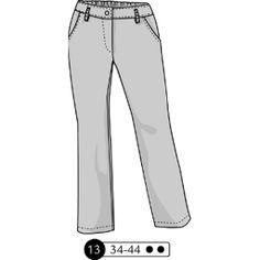 "Ottobre Woman 2014-02#13 ""Cool & Classic"" linen pants"