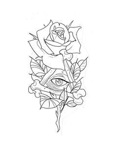 Tattoo Design Drawings, Tattoo Sketches, Tattoo Designs, Flash Art Tattoos, Traditional Tattoo Design, Traditional Tattoo Flash, Illuminati Tattoo, Simple Tattoos For Guys, Daddy Tattoos