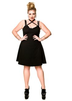 Domino Dollhouse - Plus Size Clothing: Silent Shout Dress