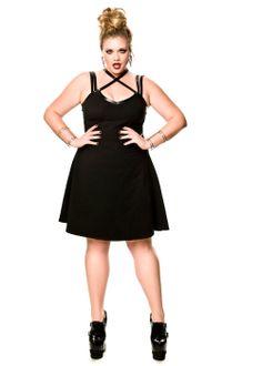 Domino Dollhouse - Plus Size Clothing: Silent Shout Dress