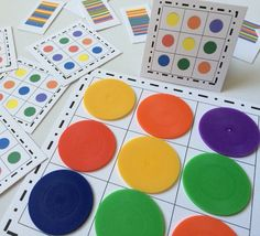 Items similar to Pattern Chips - Stacking Towers, Pattern Board, Preschool and Kindergarten Busy Bag - Math Centers on Etsy Letter B Activities, Preschool Learning Activities, Infant Activities, Preschool Activities, All About Me Preschool, Math For Kids, Crafts For Kids, Math Centers, Ideas