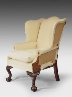 Chippendale period mahogany Wing chair - Windsor House Antiques: