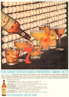 Seagrams Great Entertainer 7 Great Acts 1963