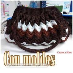 Delicadezas en crochet Gabriela: BOLSO ZIG-ZAG : Última moda paso a paso y esquemas